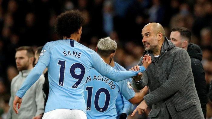 Leroy Sane tampil gemilang meski tak menjadi pilihan utama Pep Guardiola. (Phil Noble/Reuters)