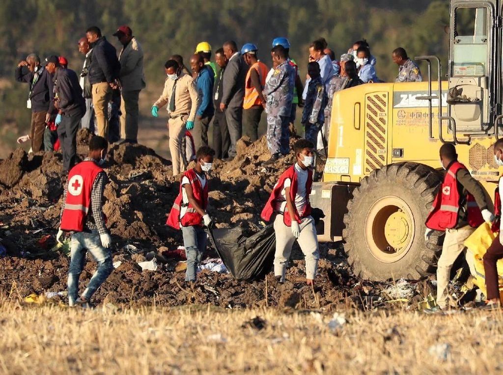 Tim SAR Evakuasi 157 Korban Tewas Ethiopian Airlines