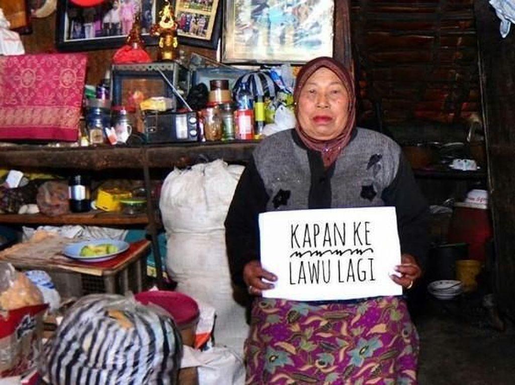 Kisah Haru Wanita yang Dapat Makanan Gratis hingga Warung Tertinggi di Indonesia