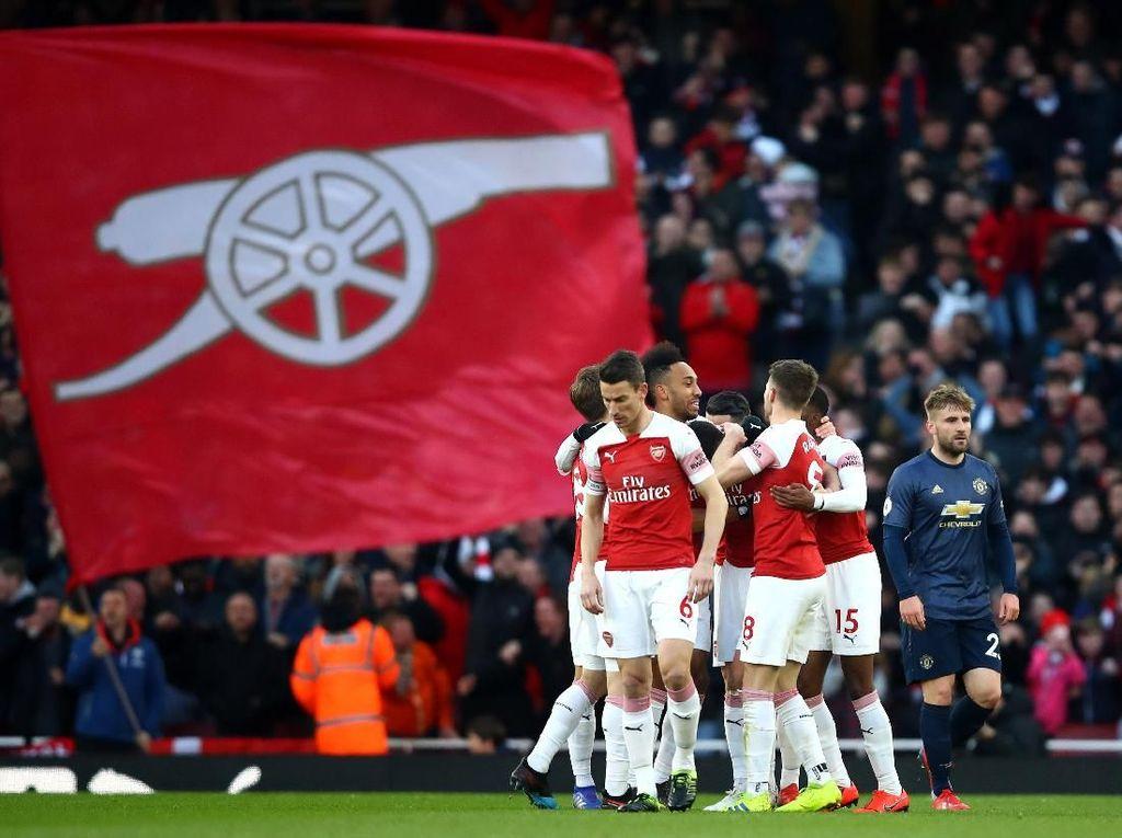 Arsenal Bisa Berbahagia Sejenak Usai Kalahkan MU