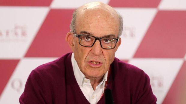 CEO Dorna Sports Carmelo Ezpeleta siap menggelar balapan hingga Desember 2020.