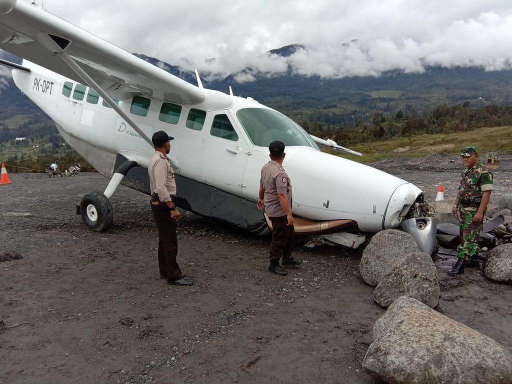 Kronologi Tergelincirnya Pesawat di Bandara Puncak Papua