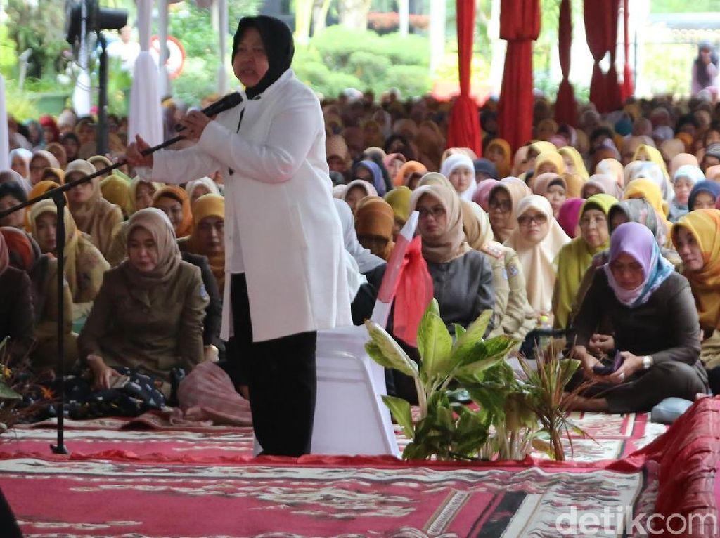 Risma Gelar Doa Bersama Lintas Agama untuk Keselamatan Surabaya