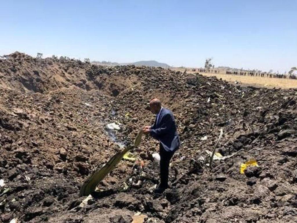 Kotak Hitam Pesawat Ethiopian Airlines Ditemukan