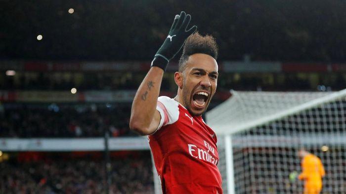 Penyerang Arsenal, Pierre-Emerick Aubameyang. (Foto: Eddie Keogh/Reuters)