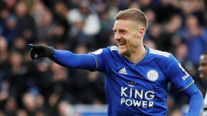 Striker Leicester City, Jamie Vardy, andalan untuk membobol gawang Tottenham Hotspur. (Foto: Reuters)