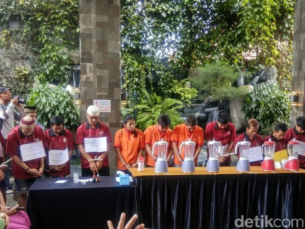 Kapolda Sumsel Pajang 14 Bandar Sabu di Depan Pelajar