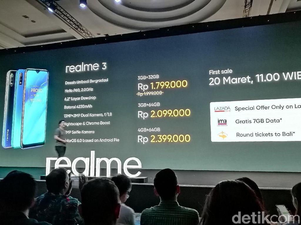 Resmi Mendarat di Indonesia, Berapa Harga Realme 3?