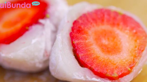 resep mochi strawberry