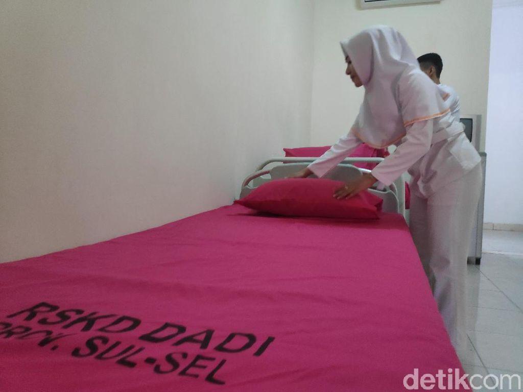Potret Kamar RSJ Bak Hotel untuk Caleg Stres di Makassar