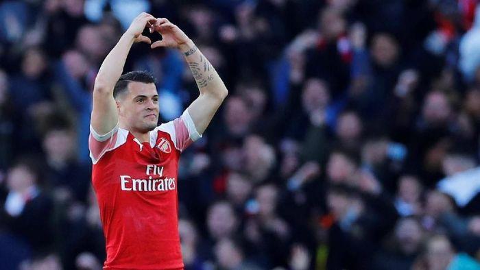 Granit Xhaka menilai Arsenal tertinggal empat tahun dari Liverpool. (Foto: Reuters)