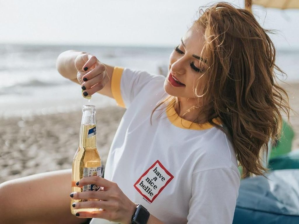 Serunya Kulineran Nora Alexandra, Model Cantik Teman Dekat Jerinx SID