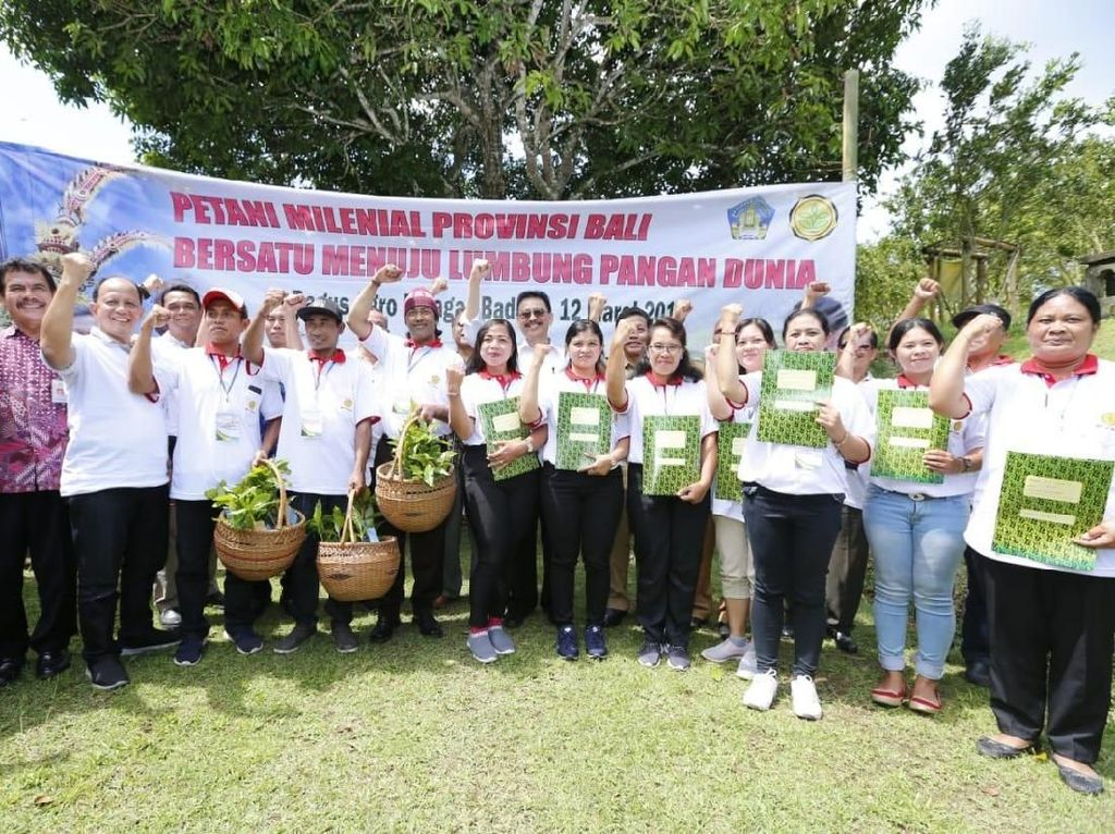 Dukung Kekuatan Pangan RI, Kementan Ajak Milenial Bali Jadi Petani