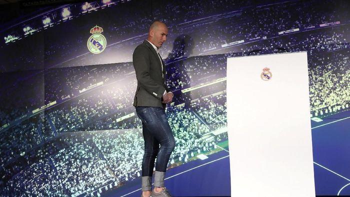 Real Madrid kembali tunjuk Zinedine Zidane sebagai pelatih. (Foto: Susana Vera/Reuters)