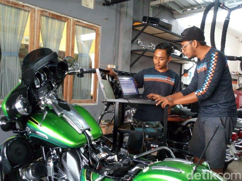 Bengkel Harley di Semarang Ini Pernah Tangani Motor Gibran