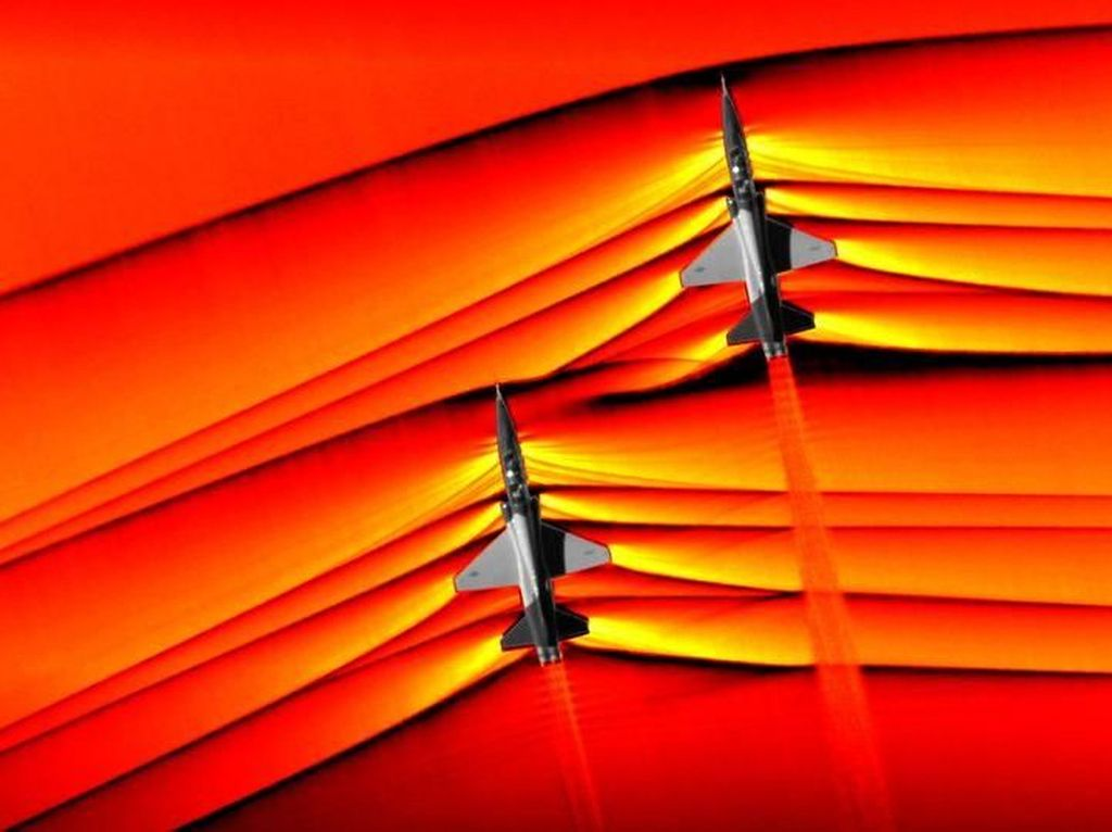 NASA Pamer Gambar Gelombang Supersonik Menakjubkan