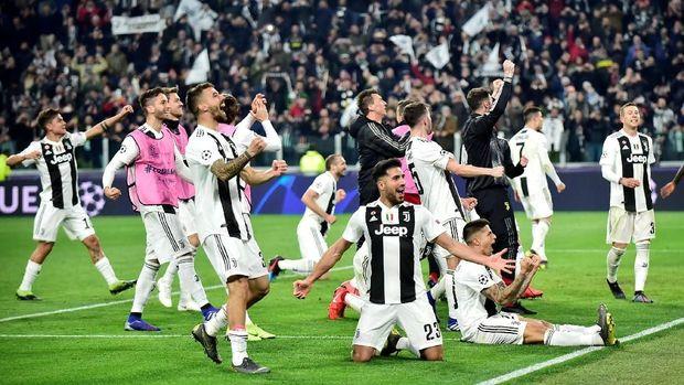 Juventus berhasil bangkit dari kekalahan 0-2 di markas Atletico Madrid lewat kemenangan 3-0 di Turin.