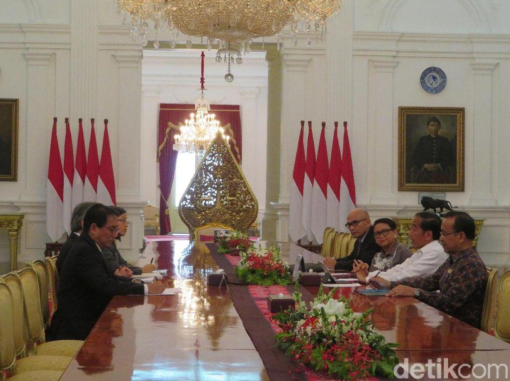 Terima Kunjungan Menlu Thailand, Jokowi Bahas Harga Karet Dunia
