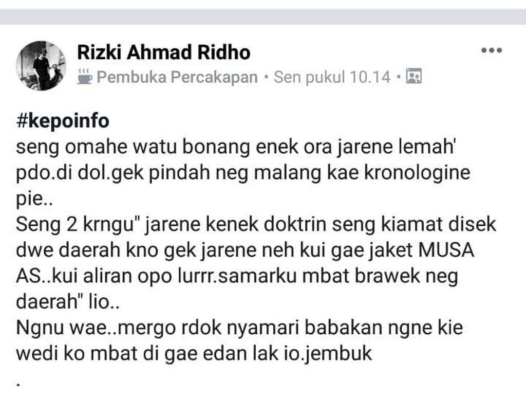 Viral! 52 Warga Ponorogo Pindah ke Malang karena Isu Kiamat