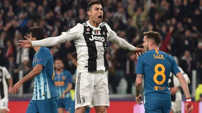 Cristiano Ronaldo mencetak hat-trick ke gawang Atletico Madrid. (Foto: Getty Images)