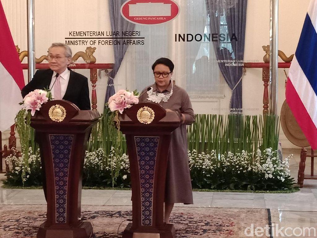 Menlu Thailand Temui Retno di Jakarta, Bahas Penyelesaian Konflik Rohingya