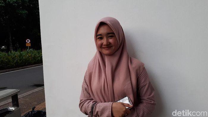 Desi Novelia Sari, pacar Firza Andika (Mercy Raya/detikSport)