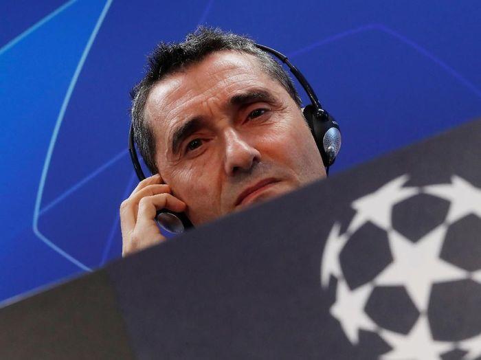 Di posisi lima ada Ernesto Valverde. Pelatih Barcelona itu mendapat bayaran 23 juta euro atau sekitar Rp 367 miliar per musim. (Susana Vera/Reuters)