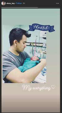 Alexa Key melahirkan anak pertama