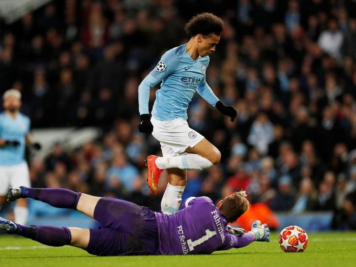 Pemain Manchester City, Leroy Sane. (Foto: Lee Smith/Actions Images via Reuters)