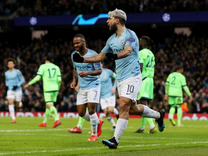 Manchester Cityt pesta tujuh gol ke gawang Schalke 04. (Foto: Lee Smith/Actions Images via Reuters)