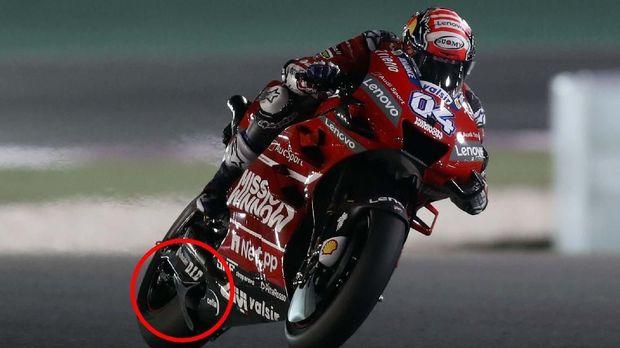 Winglet belakang Ducati yang dipermasalahkan empat tim MotoGP.