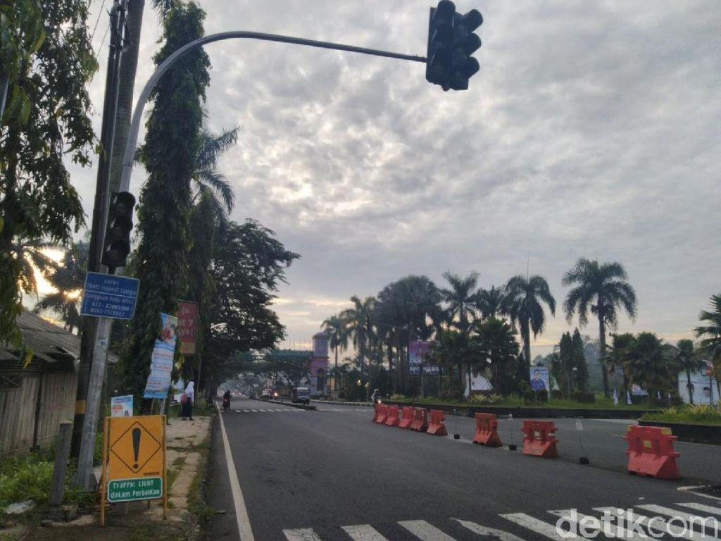 Puluhan PJU dan Traffic Light di Ciamis Rusak Disambar Petir