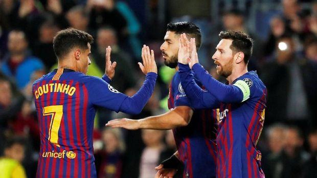Barcelona dan Liverpool jadi tim terakhir yang ke perempat final.