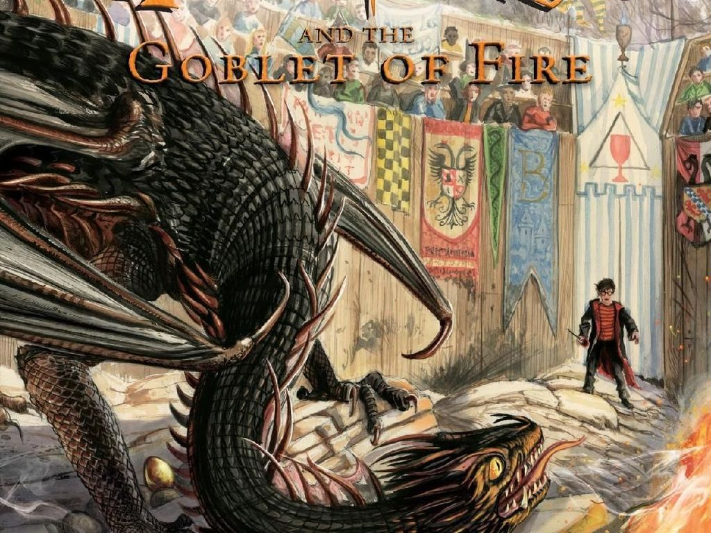 Ilustrasi Jim Kay di Buku Harry Potter ke-4 Lebih Banyak Sentuhan Gelap