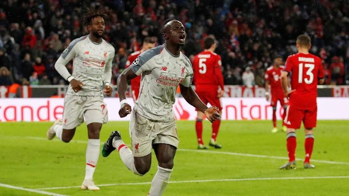 Liverpool menang 3-1 atas Bayern Munich berkat dua gol Sadio Mane (Action Images via Reuters / Andrew Boyers)