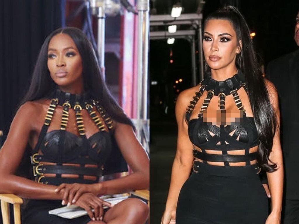 5 Bukti Kim Kardashian Contek Gaya Naomi Campbell