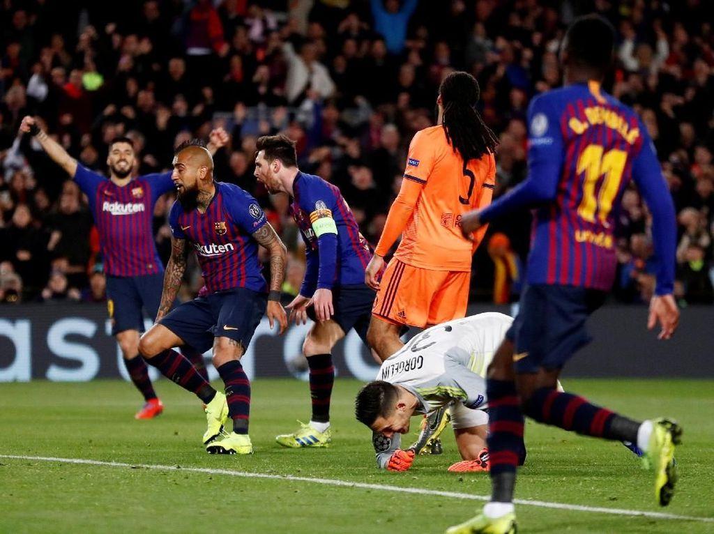 Barca Pesta Gol di Camp Nou