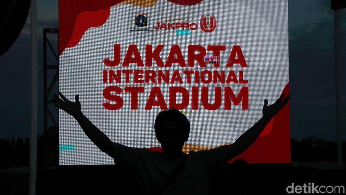 Pembangunan Jakarta International Stadium sudah resmi dilakukan. (Foto: Pradita Utama/detikcom)