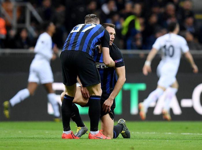 Inter Milan disingkirkan Eintracht Frankfurt di babak 16 besar Liga Europa. (Foto: Daniele Mascolo/Reuters)