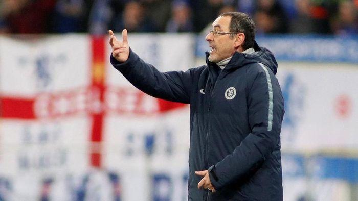 Maurizio Sarri berharap tidak Chelsea tidak jumpa Napoli di perempatfinal Liga Europa (REUTERS/Valentyn Ogirenko)