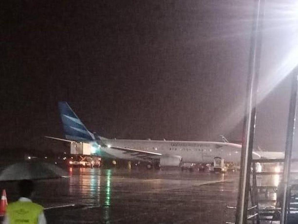 Pesawat Garuda Indonesia Tergelincir di Bandara Adisutjipto DIY