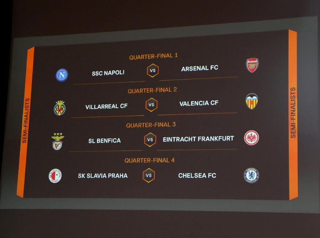 Drawing Perempatfinal Liga Europa: Napoli Versus Arsenal