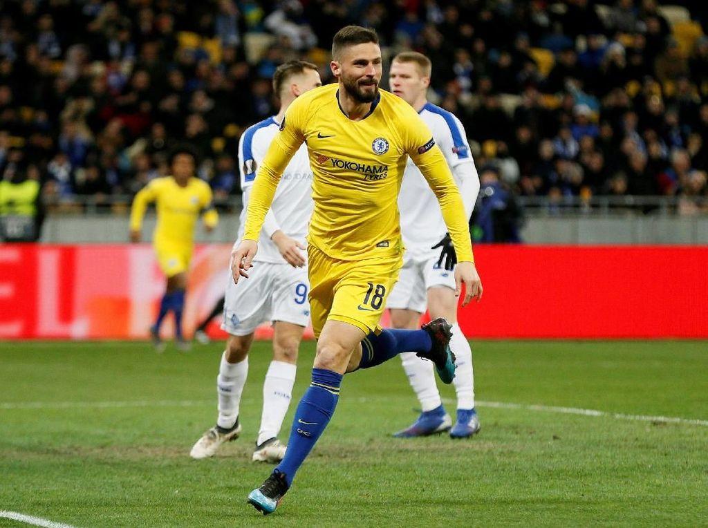 Video: Giroud Trigol, Chelsea Gebuk Dynamo Kiev
