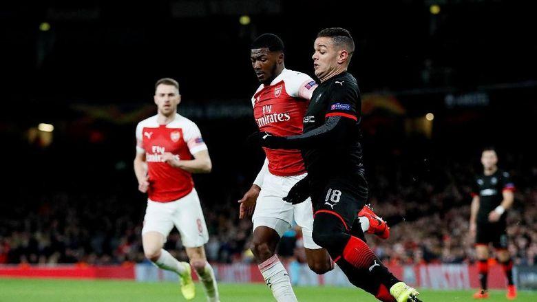Arsenal mengejar defisit dua gol saat menjalani leg II babak 16 besar Liga Europa di Emirates Stadium, Jumat (15/3/2019) dinihari WIB. Tim asuhan Unai Emery itu merespons dengan cepat. (Foto: David Klein/Reuters)