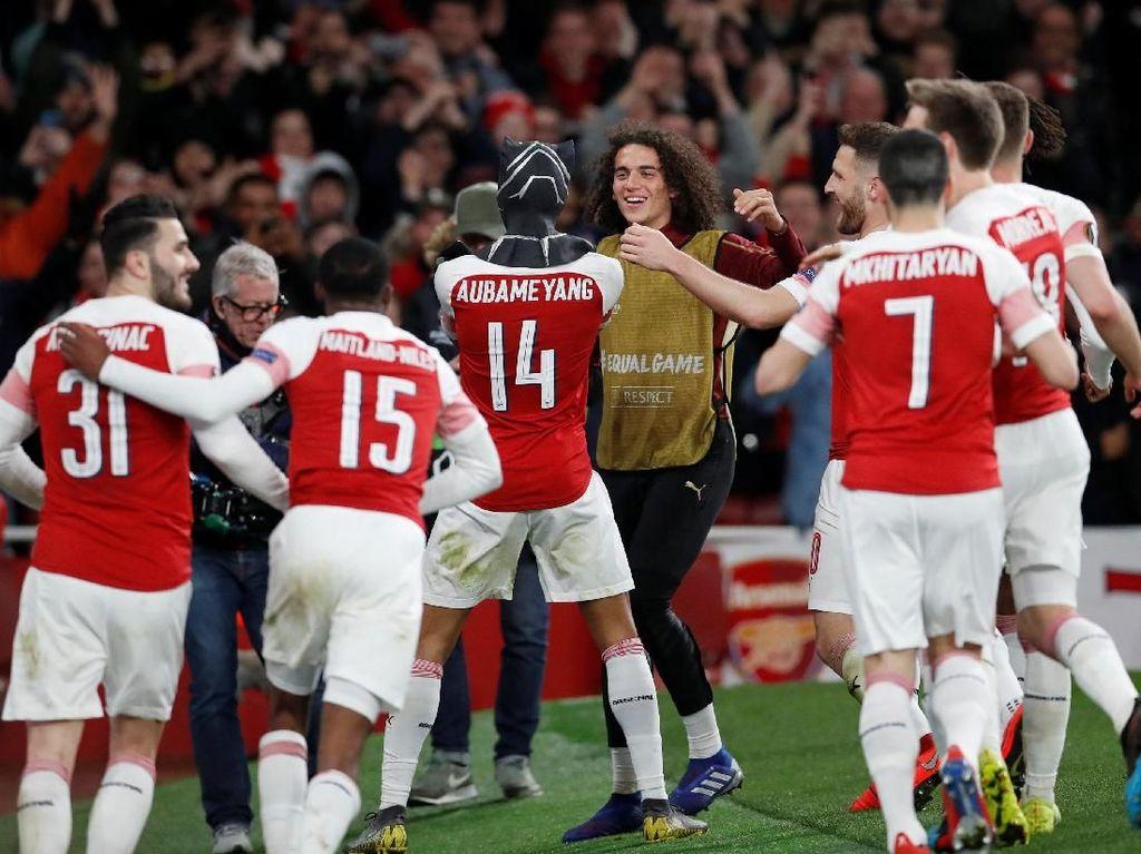 Hasil Liga Europa: Hantam Rennes 3-0, Arsenal ke Perempatfinal