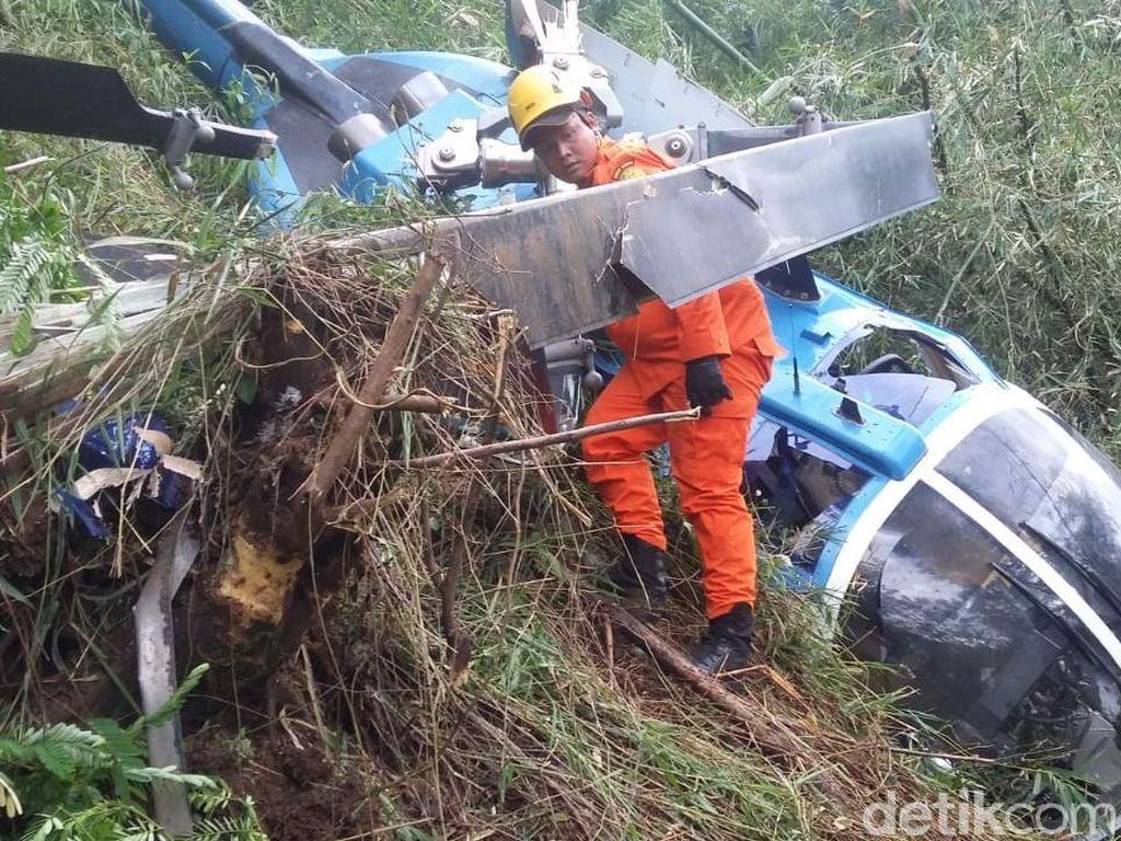 Evakuasi Bangkai Heli yang Jatuh di Tasikmalaya Tunggu Tim KNKT