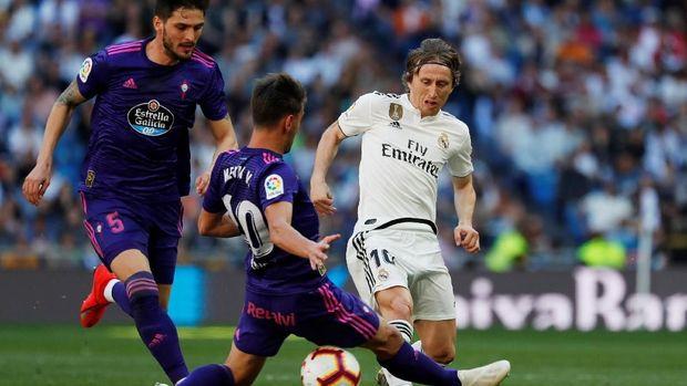 Luka Modric sempat membobol gawang Celta Vigo, namun dianulir wasit. (