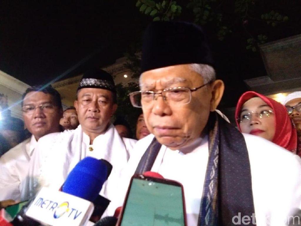Dilepas Marawis, Maruf Amin Berangkat ke Lokasi Debat Cawapres