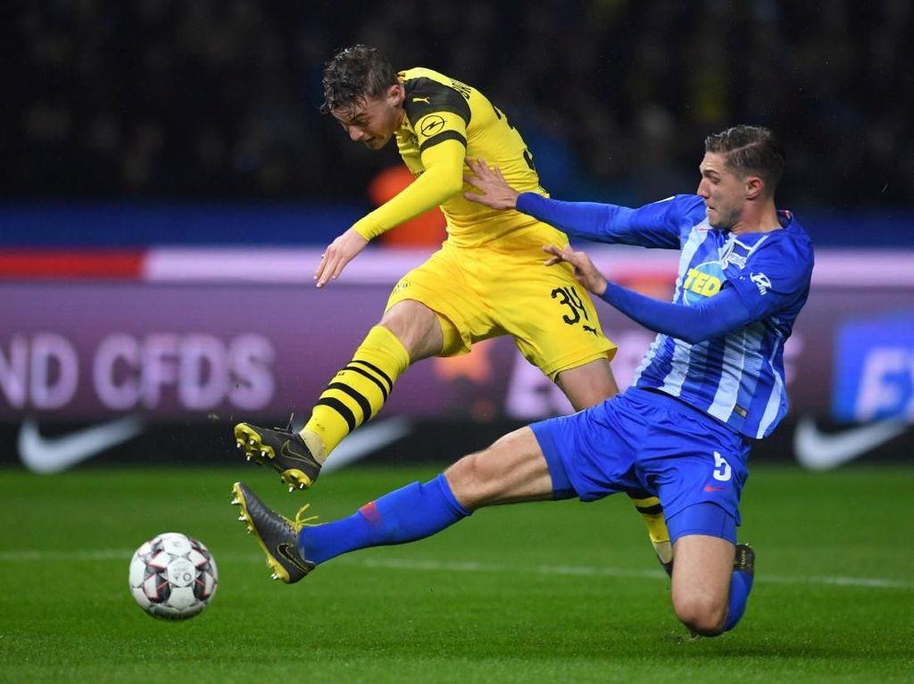 Hasil Liga Jerman: Tertinggal Dua Kali, Dortmund Menang Dramatis atas Hertha