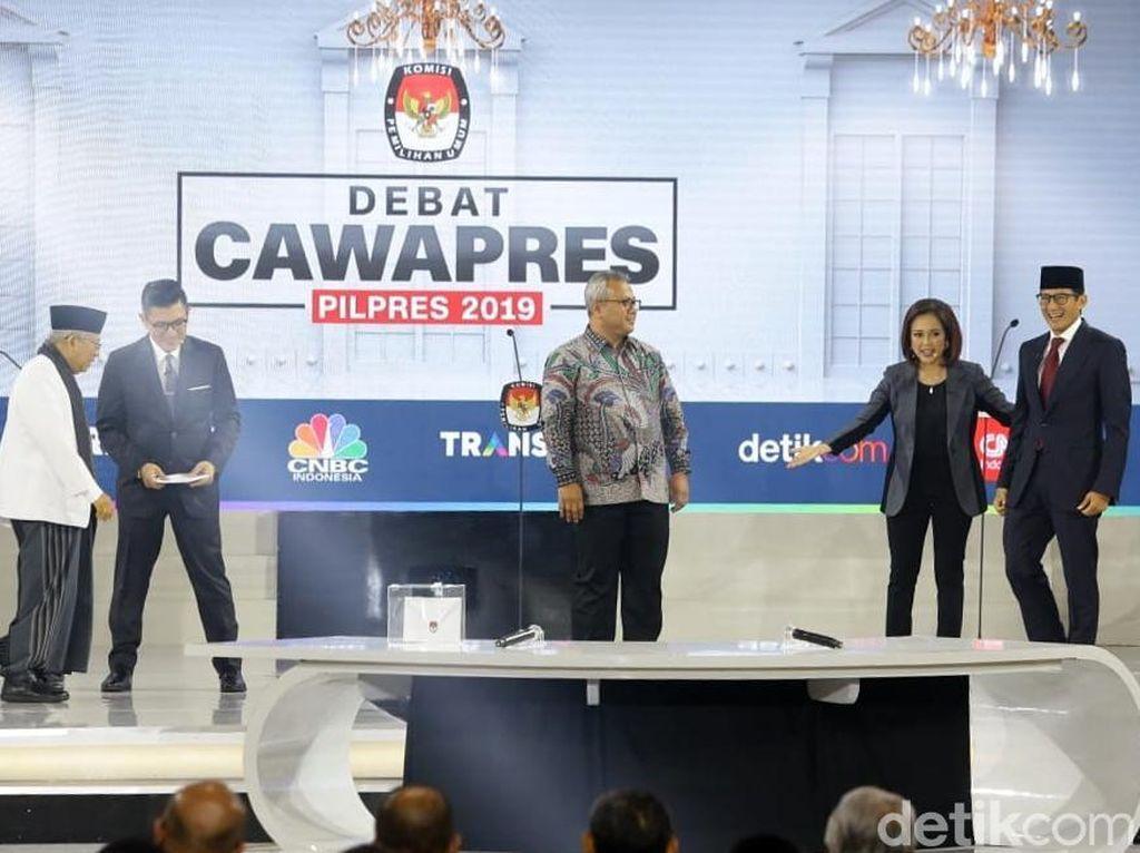 Review Debat Sesi II: Maruf Amin Defensif tapi Detail, Sandiaga Agresif